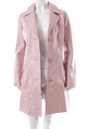 Gipsy Ledermantel rosa 70ies-Stil