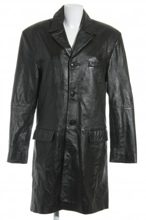 Gipsy Leather Coat black casual look