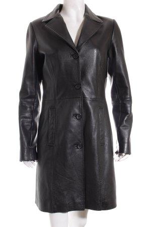 Gipsy Ledermantel schwarz schlichter Stil