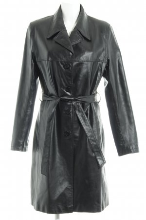 Gipsy Leather Coat black simple style