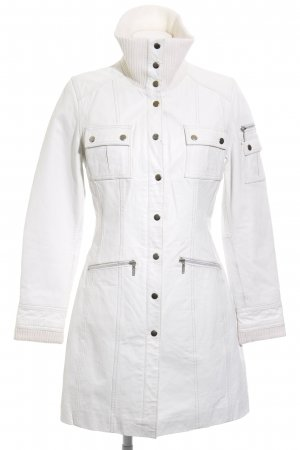 Gipsy Leather Coat white-cream extravagant style