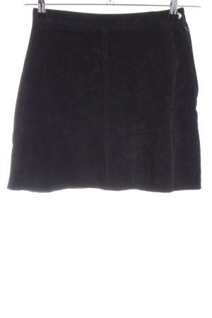 Gipsy Leren rok zwart casual uitstraling