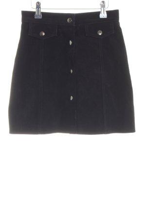 Gipsy Falda de cuero negro look casual