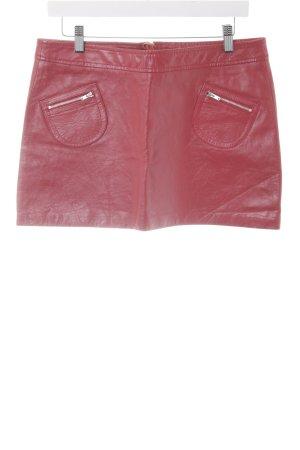 Gipsy Lederrock rot Street-Fashion-Look