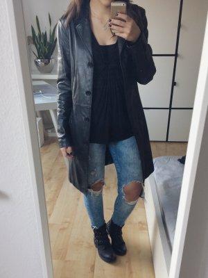 Gipsy Abrigo de cuero negro Cuero