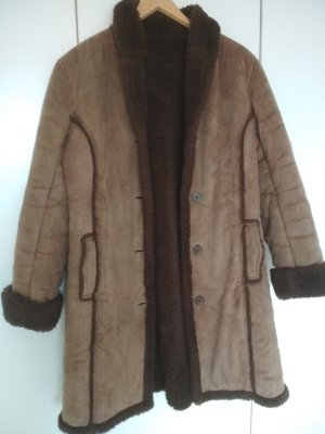 Gipsy Pelt Coat brown-camel mixture fibre