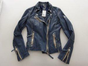 Gipsy rockige echt Lamm Nappa Biker Lederjacke Vintage Look XS/S NEU