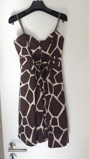 Giraffe Print Kleid/Baumwolle/Made in Italy