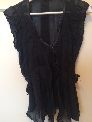 Girbaud Bluse, schwarz, Größe S
