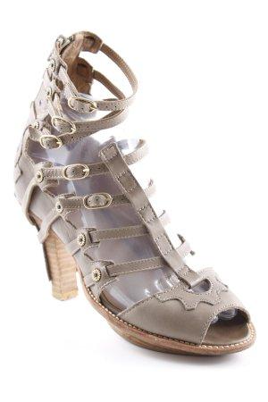 Girbaud Riemchen-Sandalen graubraun Casual-Look