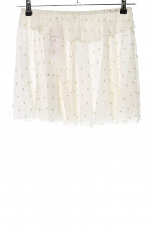 Girl. by band of outsiders Minirock wollweiß-goldfarben Allover-Druck