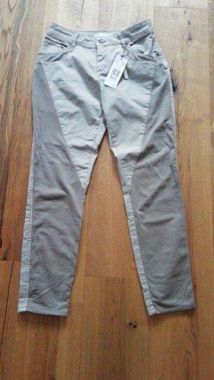 Oui Pantalone grigio chiaro-beige chiaro