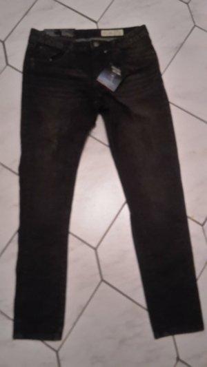 Esmara by Heidi Klum Jeans boyfriend gris anthracite coton