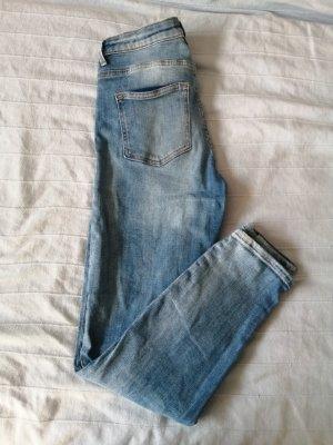 HM Jeans a carota azzurro Cotone
