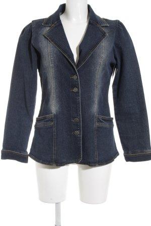Girls Wear Jeansblazer blau Street-Fashion-Look