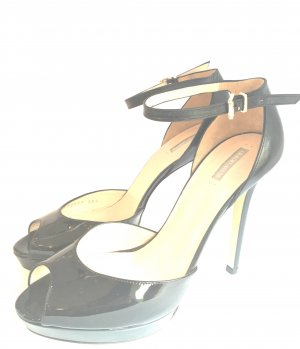 Armani Platform High-Heeled Sandal black leather
