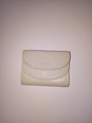 GIUDI kleine Ledergeldbörsen Portemonnaie Leder Creamweiss Made in Italy