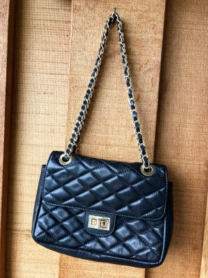 Giulia italienische Handtasche Echtleder schwarz