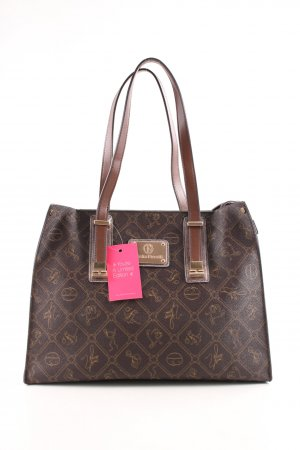 Giulia Pieralli Carry Bag brown-cream themed print business style