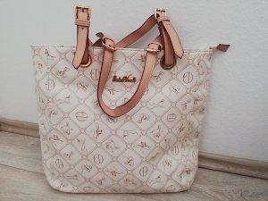 Giulia Pieralli Shopper in weiß/creme mit Details in Kunstleder      - neuwertig -