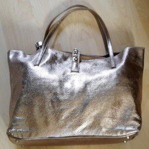 Giulia Schultertasche Leder metallic