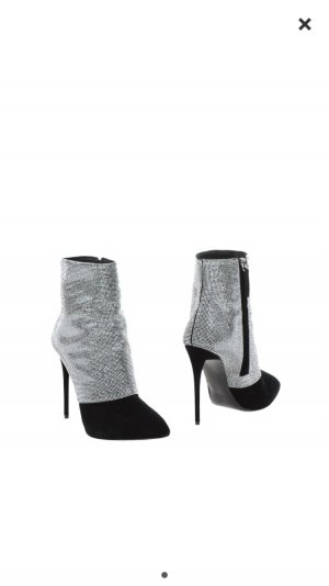 Giuseppe Zanotti Peep Toe Booties black-silver-colored
