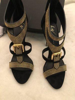 Giuseppe Zanotti High Heel Sandal black-gold-colored