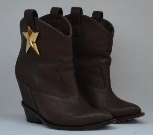 Giuseppe Zanotti Western Booties bronze-colored leather