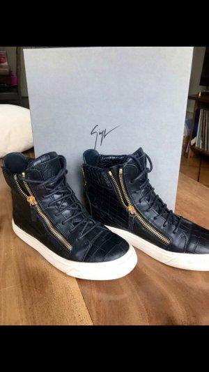 Giuseppe Zanotti Damen High Top Sneaker Kroko