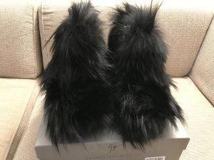 Giuseppe Zanotti Design Stiefel Boots Winterstiefel 36 Pelz schwarz