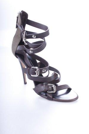 Giuseppe Zanotti High Heel Sandaletten dunkelbraun-khaki Urban-Look