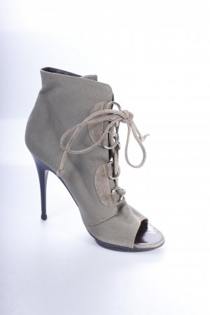 Giuseppe Zanotti High Heel Sandaletten olivgrün Military-Look