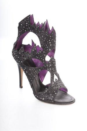 Giuseppe Zanotti High Heels schwarz-lila extravaganter Stil