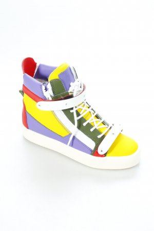 "Giuseppe Zanotti High Top Sneaker ""May London Sneaker Yellow """