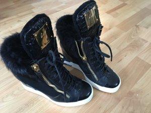 Giuseppe Zanotti Hightop Sneaker mit Pelz