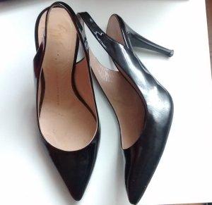 Giuseppe Zanotti Pumps Gr. 38,5 1/2 Slingback grau schwarz high heels designer