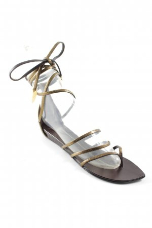 Giuseppe Zanotti Roman Sandals gold-colored-brown medieval style
