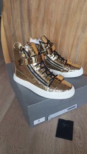 GiuSEPPE ZANOTTI sneaker high top metallic gold gr.41 NEU