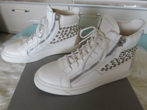 Giuseppe Zanotti Zapatillas altas blanco-gris claro Cuero