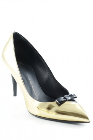 Giuseppe Zanotti Spitz-Pumps schwarz-goldfarben Elegant