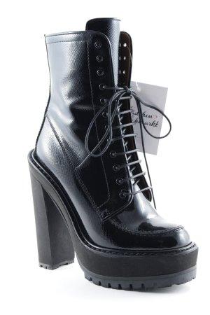 Givenchy Bottes à talon noir style extravagant