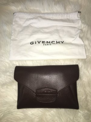 Givenchy Antigona Envelope Clutch Braun High End Designer Leder Leather