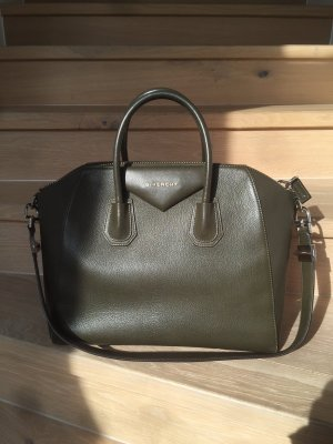 Givenchy Tote olive green leather