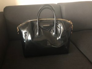 Givenchy Antigona Medium schwarz gold Lack Leder Tote