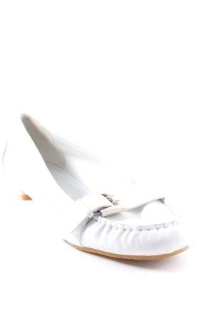 Givenchy Ballerinas white-silver-colored elegant