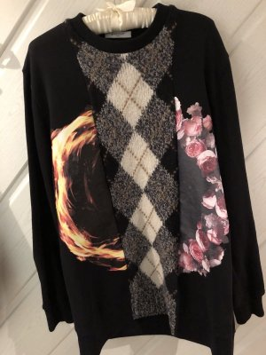 Givenchy Pull long multicolore coton