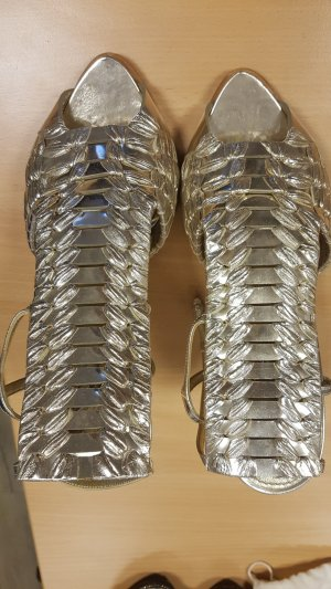Givenchy gold gladiator shoes heels