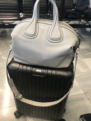 Givenchy Tote silver-colored leather