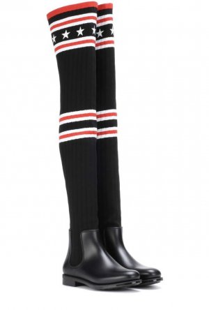 Givenchy Overknees aus Stretch-Strick