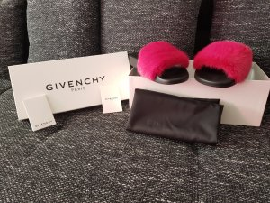 Givenchy Paris Sandalen mit Fell Pink gr.38